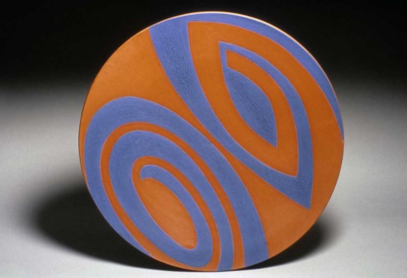 Crackle Slip Platter